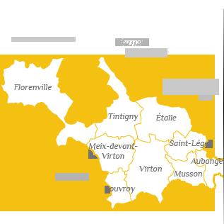 Carte des communes du Parc