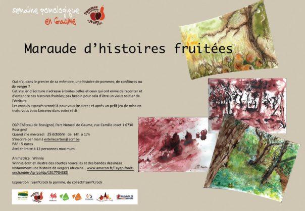 Maraude d'histoires fruitées : des mots aux arbres, des arbres aux mots @ Maison du Parc naturel de Gaume, Château de Rossignol | Tintigny | Wallonie | Belgique