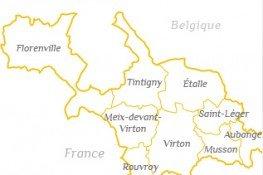 Carte des 9 communes